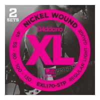 Thumbnail van D'Addario EXL170-5TP  2pack! XL nickelplated steel