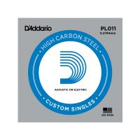Thumbnail van D'Addario PL011 Plain steel Electric or Acoustic