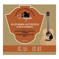Thumbnail van Dragão D021 Guitarra Acustica  11-46 Silverplated ball-end wound B and G