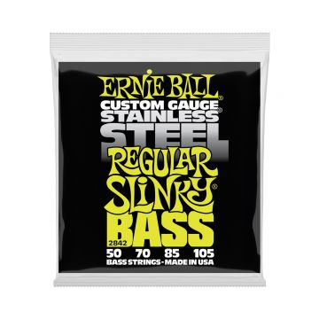 Preview van Ernie Ball 2842 Regular Slinky Stainless Steel Electric Bass Strings - 50-105 Gauge