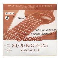 Thumbnail van Fisoma F3023C Consort 80/20 single pair of D strings for mandoline.