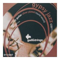 Thumbnail van Galli GSB11 Gypsy Jazz Medium  Silver plated roundwound