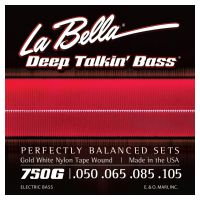 Thumbnail van La Bella 750G Gold White Nylon Tape Wound
