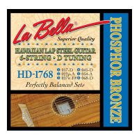 Thumbnail van La Bella HD1768 Hawaiian Lap Steel Guitar, Phosphor Bronze – 6-String D Tuning 17-68