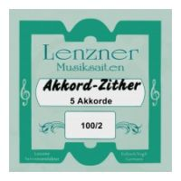 Thumbnail van Lenzner 100/2 Soloklang Chord zither  5 chords, 62 strings, (Mandoline melody strings)