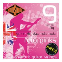 Thumbnail van Rotosound R9 Roto 'Pinks' Super light nickel